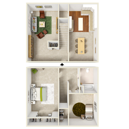 flemming creek two bedroom townhome